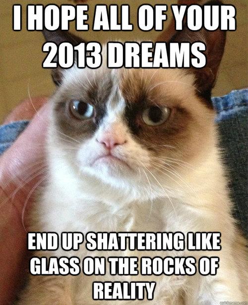 happy new years grumpy cat